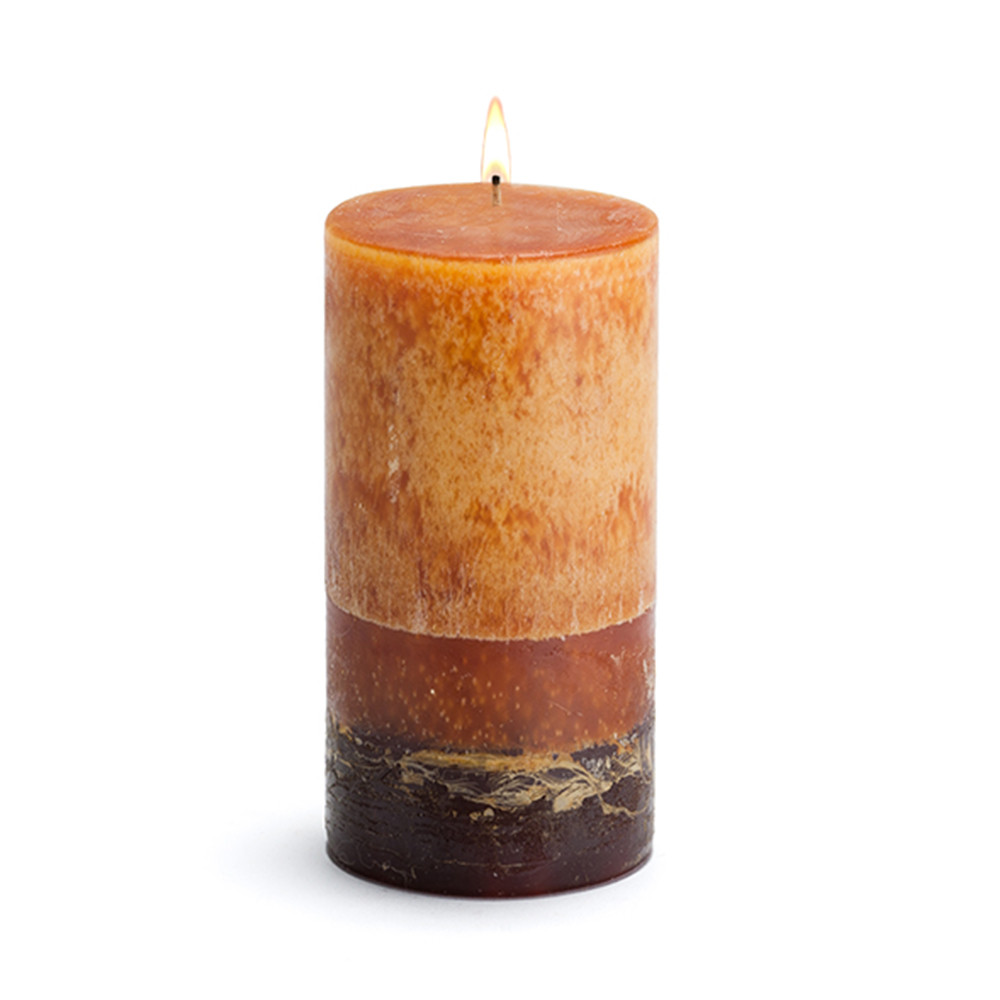 Scented Candle - Pillar Mango - 3x6 Burn Time: 80 HOURS